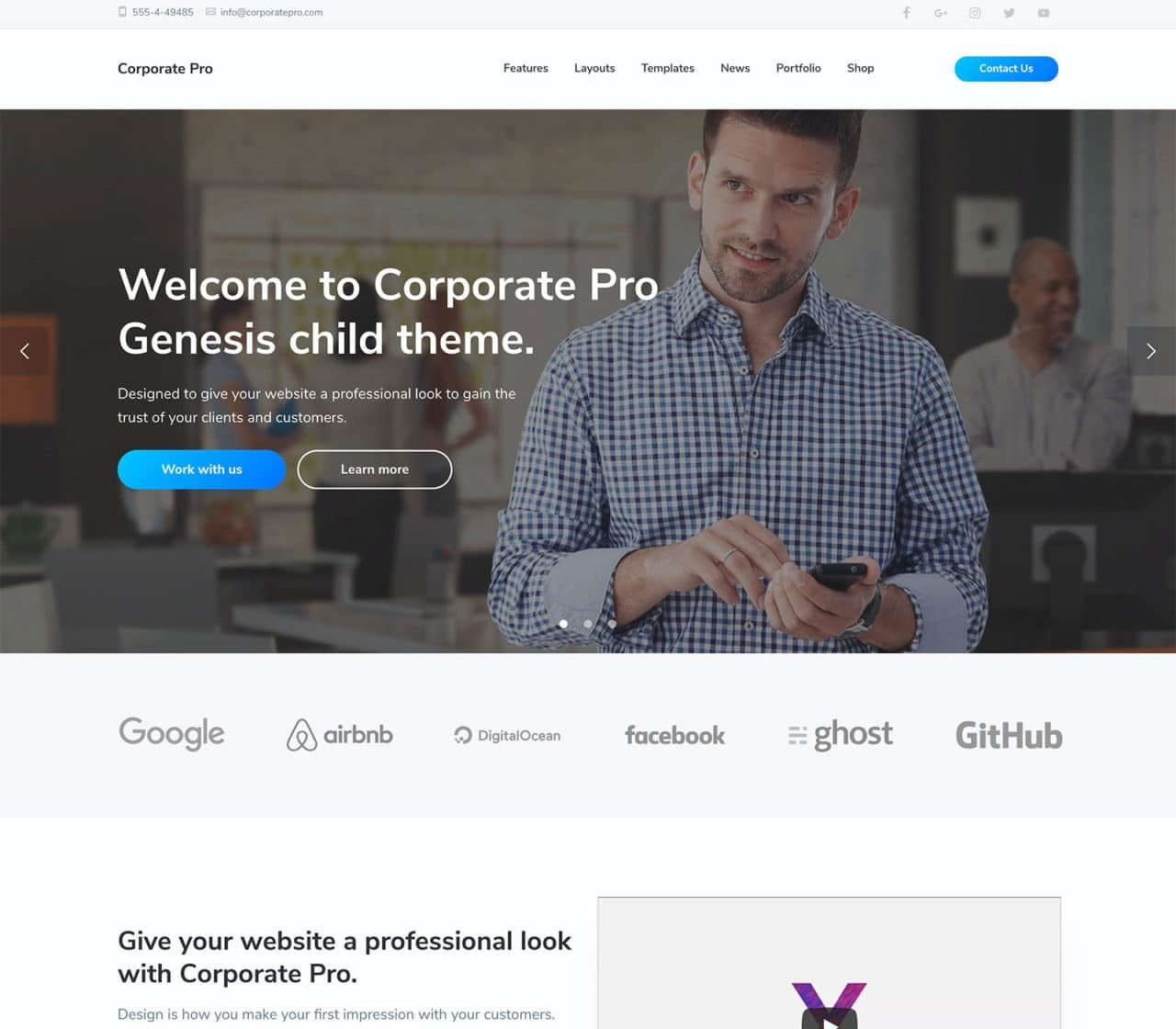 Corporate Pro Genesis Child Theme WordPress
